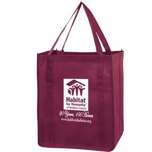 "Recession Buster Non-Woven Grocery Tote Bag w/ Insert (13""x10""x15"") - Screen Print"