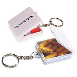 Square Pill Holder Keychain