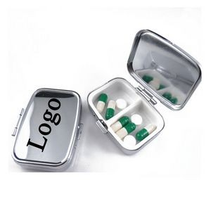 Portable Square Pill Box Metal Medicine Box