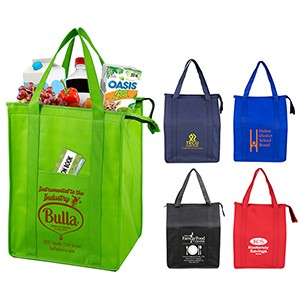 """Super Cooler"" Large Insulated Cooler Zipper Tote Bag"