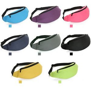 2 Zippers Polyester Budget Fanny Pack