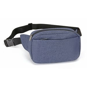 Heathered Two-Zippered Fanny Pack
