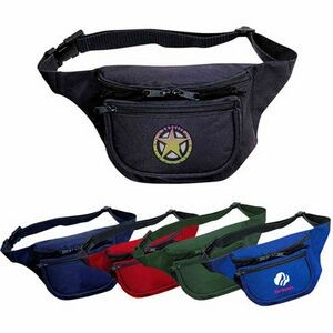 Three-Pocket Polyester Fanny Pack