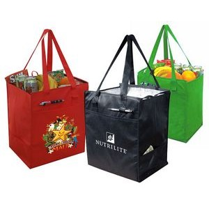 Eco Insulated Grocery Tote w/ Side Pockets