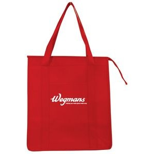 "Insulated Non Woven Grocery Tote Bag - 1 Color (13""x15""x9"")"