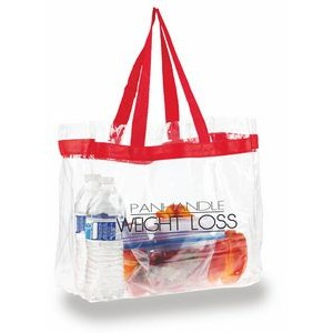 "Clear PVC Tote 1 Color - (12""x12"")"