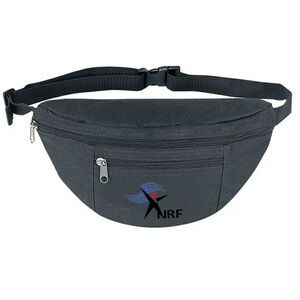 Poly Two Zipper Fanny Pack
