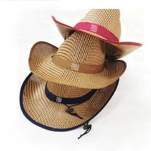 Child/'s COWBOY or COWGIRL Hat Straw  With RED Trim /& Badge Brand NEW